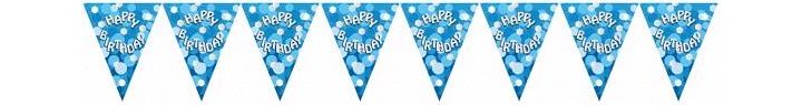 Sparkle Blue Birthday Bunting