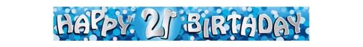 Sparkle Blue 21st 9ft Foil Banner