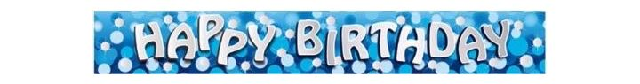 Sparkle Blue Birthday 9ft Foil Banner