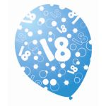 Sparkle Blue 12 Inch 18th  Balloons (pack quantity 6)