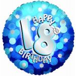 Sparkle Blue 18th 18 Inch Foil Balloon