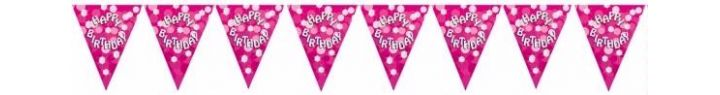 Sparkle Pink Birthday Bunting
