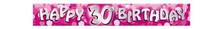 Sparkle Pink 30th 9ft Foil Banner