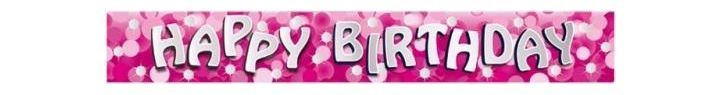 Sparkle Pink Birthday 9ft Foil Banner
