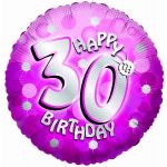 Sparkle Pink 30th 18 Inch Foil Balloon