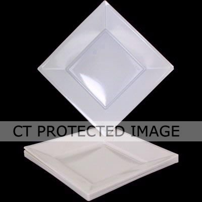  18cm White Square Plates (pack&nbsp;quantity&nbsp;10) 