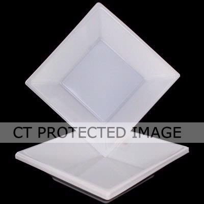  18cm White Square Bowls (pack&nbsp;quantity&nbsp;10) 