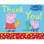  Peppa Pig Thank You Cards (pack&nbsp;quantity&nbsp;6) 
