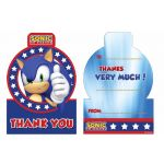 Sonic Thank You Card (pack quantity 6)