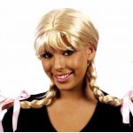 Wig Braided Wire Blonde