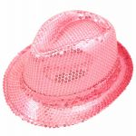 Baby Pink Sequin Gangster Hat