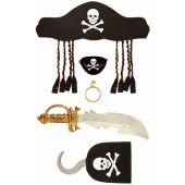 5pc Adult Pirate Set