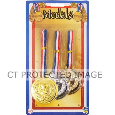  6cm Medals Assorted (pack&nbsp;quantity&nbsp;3) 