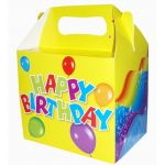 Happy Birthday Lunch Boxes (pack quantity 6)