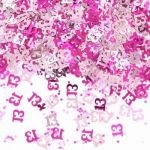 Pink Shimmer 13th Metallic Confetti