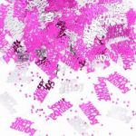 Pink Shimmer Happy Birthday Confetti