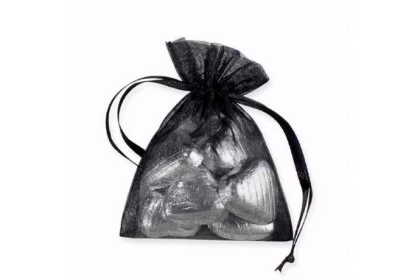  Black Organza Bags (pack&nbsp;quantity&nbsp;10) 