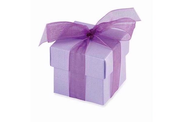 Lilac Favour Box & Lid (pack quantity 10)