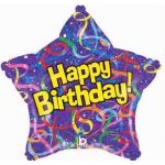 Purple Star Birthday 19 Inch Foils Balloons