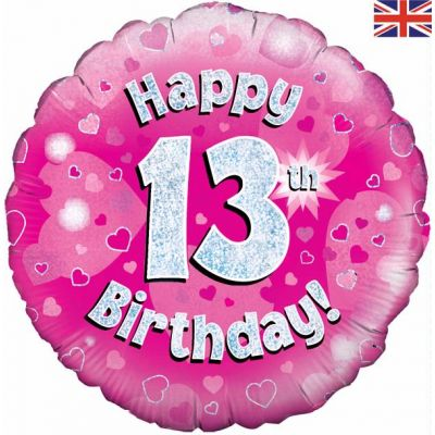 Happy 13th Birthday Pink 18 Inch Foil