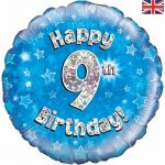 Happy 9th Birthday Blue 18 Inch Foil