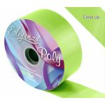 2 Inch Poly Ribbon Lime Green