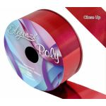 2 Inch Poly Ribbon Metallic Red
