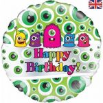 Monsters Birthday 18 Inch Foil