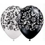  11 Inch Damask Print Balloons (pack&nbsp;quantity&nbsp;25) 