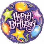 Birthday Star 18 Inch Foil Balloon