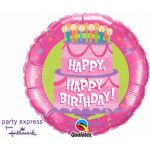 Happy Happy Birthday 31 Inch Foil Balloon