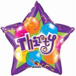 30th Sparkling 20 Inch Foil Balloon