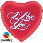 Love You Script 18 Inch Foil Balloon