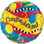 Congratulations Party 18 Inch Foil Balloon