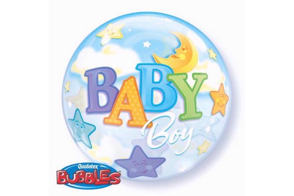 22 Inch Baby Boy Bubble Balloon
