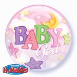 22 Inch Baby Girl Bubble Balloon