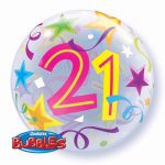 22 Inch 21st Birthday Bubble Balloon