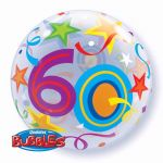 22 Inch 60th Birthday Bubble Balloon