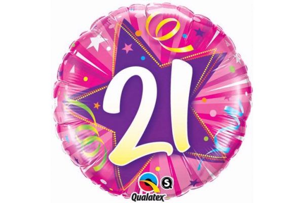 21st Shining Star 18 Inch Foil Balloon