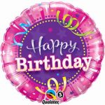 Happy Birthday Pink 18 Inch Foil