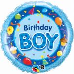 Birthday Boy Blue 18 Inch Foil Balloon