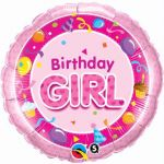 Birthday Girl Pink 18 Inch Foil Balloon