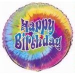 Tye-dye Birthday 18 Inch Foil Balloon