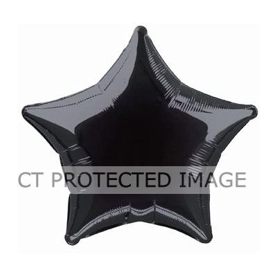 Black Star 20 Inch Star Balloon
