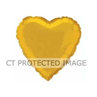Gold Heart 18 Inch Foil Balloon