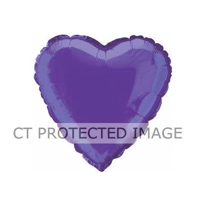 Deep Purple Heart 18 Inch Foil Balloon