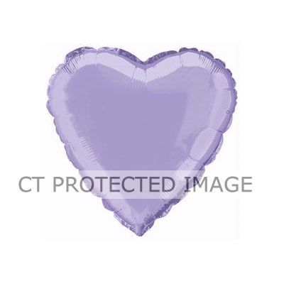 Lavendar Heart 18 Inch Foil Balloon