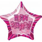 Pink Glitz Birthday 20 Inch Foil Balloon