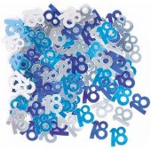 Blue Glitz 18th Foil Confetti