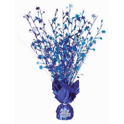 Any Age Blue Glitz Centerpiece